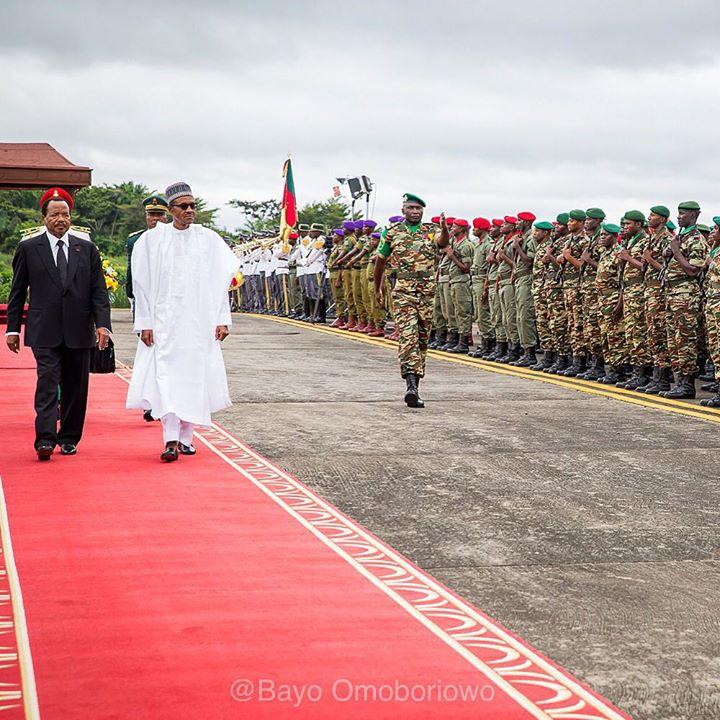 Buhari arrives Cameroon, holds talks on terrorism
