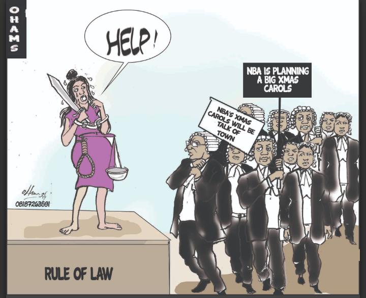 Cartoon on the rule of law in Nigeria