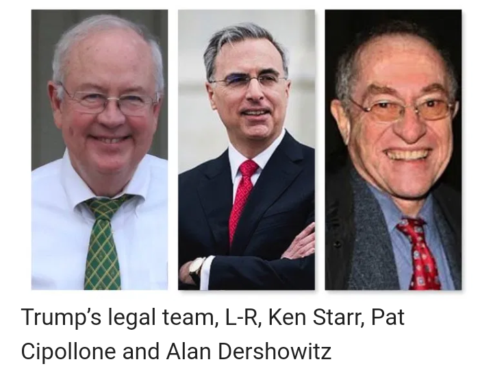Impeachment trial: Trump hires 'lunatic Ken Starr' , Dershowitz as lawyers