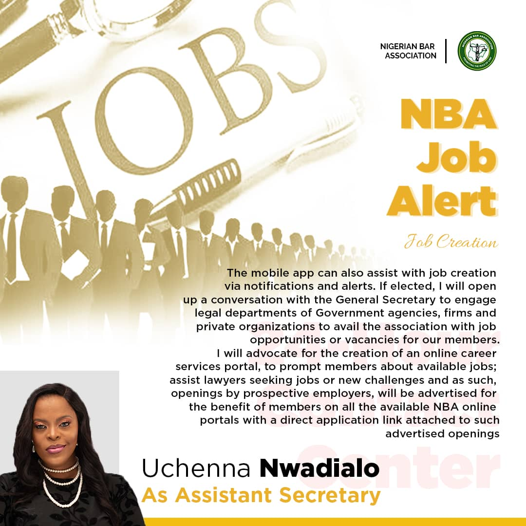 UCHENNA AND THE OFFICE OF ASSISTANT SECRETARY – NBA JOB ALERT