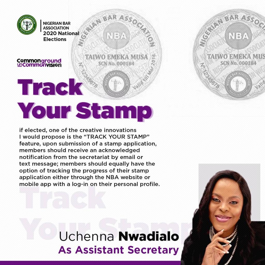UCHENNA AND THE OFFICE OF ASSISTANT SECRETARY – TRACK YOUR STAMP