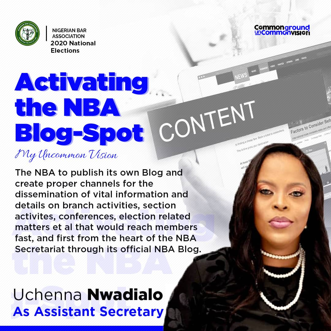 UCHENNA AND THE OFFICE OF ASSISTANT SECRETARY – ACTIVATING THE NBA BLOG-SPOT