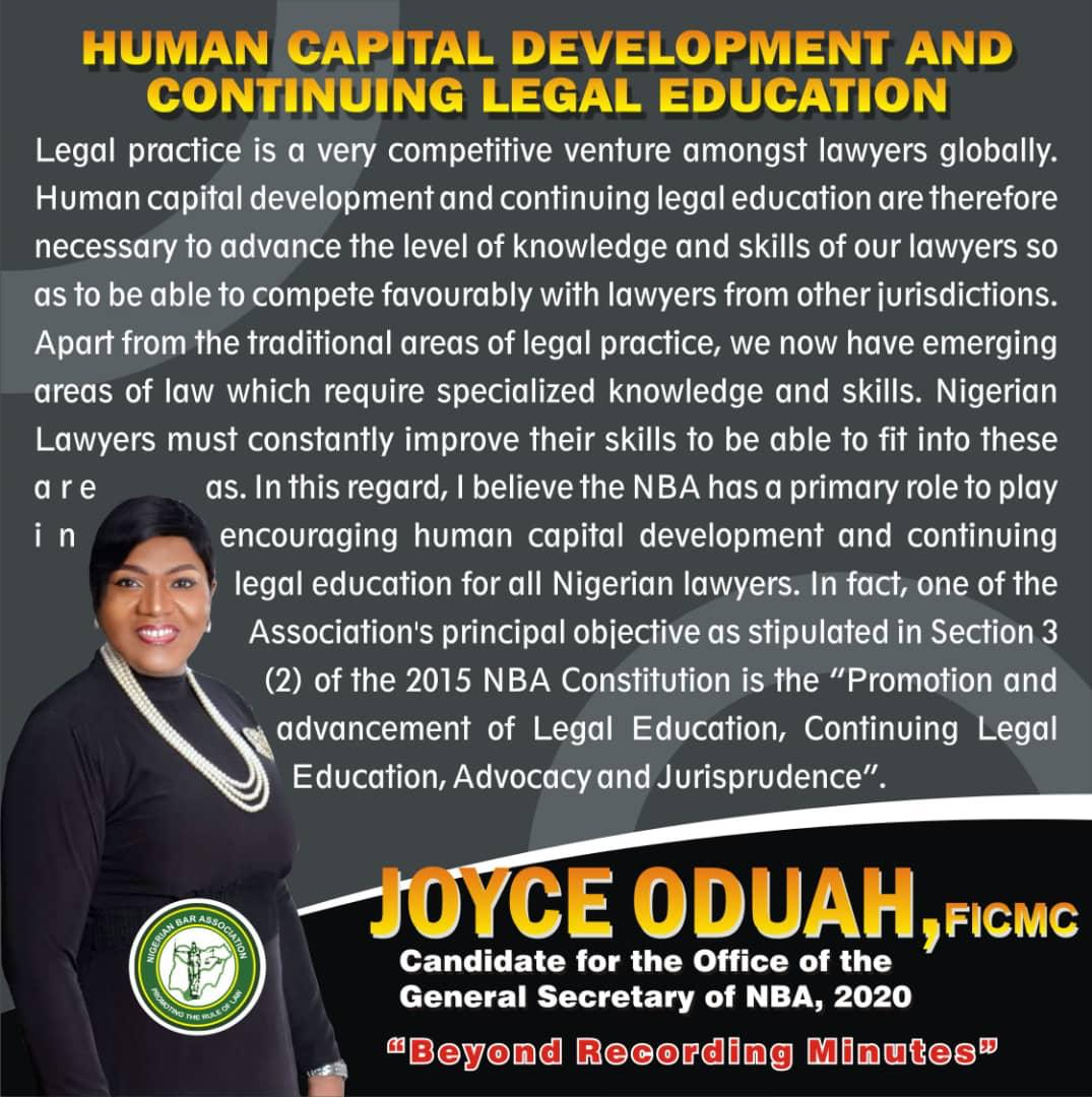 Joyce Oduah, FICMC Reveals her Agenda on Continuing Legal Education and Human Capital Development for Lawyers