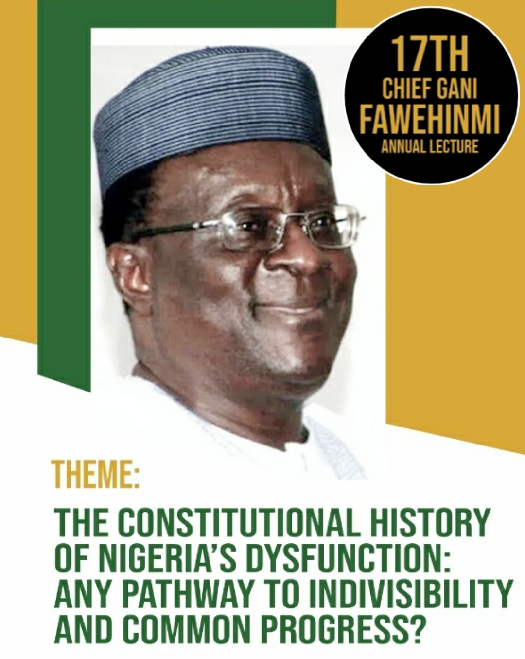 NBA IKEJA HOLDS 17TH GANI FAWEHINMI LECTURE ON FRIDAY, 15TH JANUARY, 2021