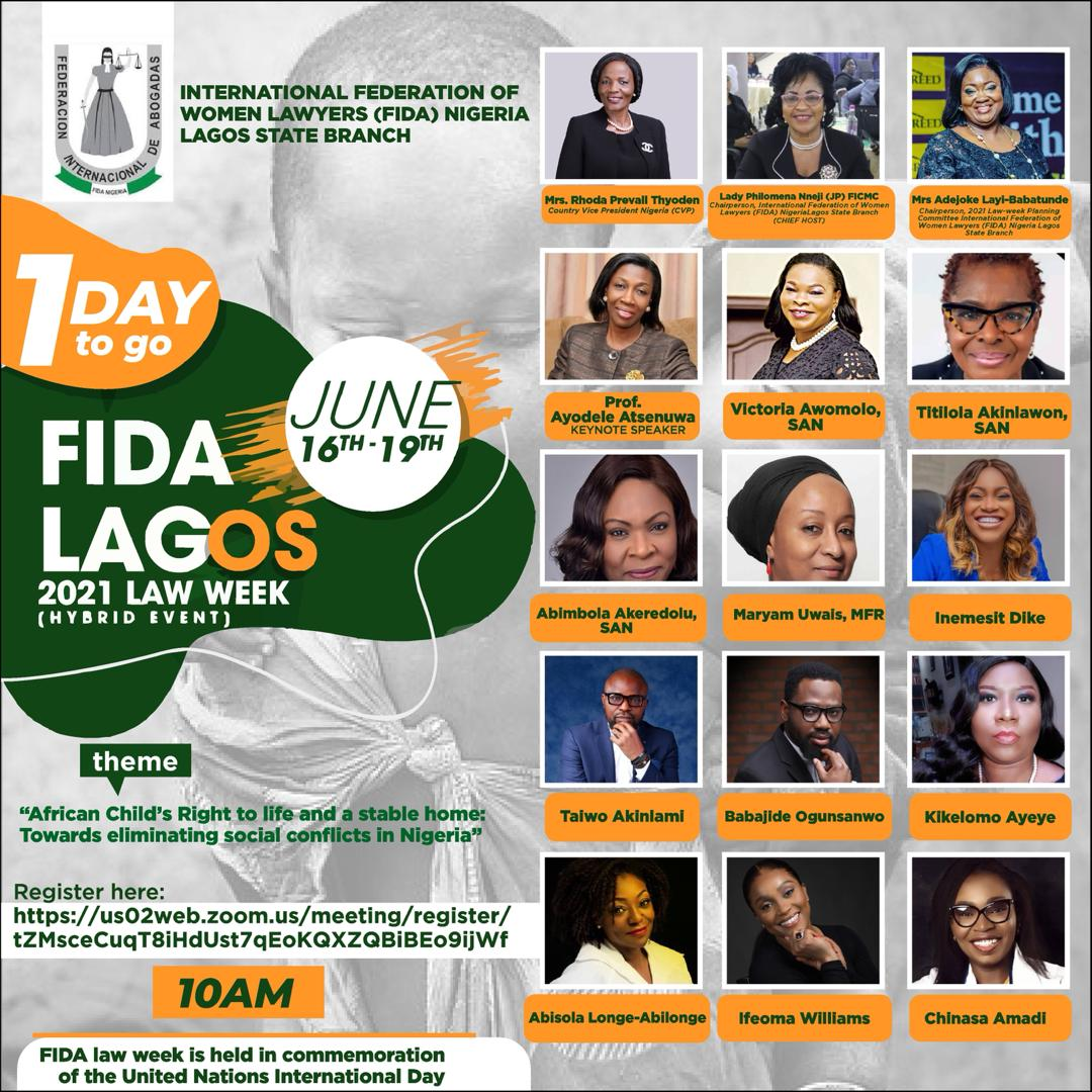 ITS LESS THAN 24 HOURS TO THE MOST ANTICIPATED FIDA 2021 LAW WEEK